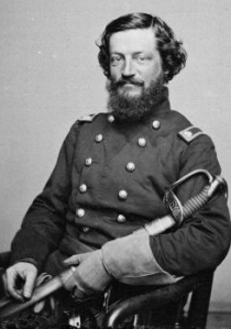 Thomas Leiper Kane (1822 – 1883) was an American attorney, abolitionist, and military officer who served as a Union Army colonel and general of volunteers in the Civil War. He received a brevet promotion to major general for gallantry at the Battle of Gettysburg. Kane was born in Philadelphia, to John Kintzing Kane, a U.S. district judge, and Jane Duval Leiper. His brother was naval officer, physician, and explorer Elisha Kent Kane.