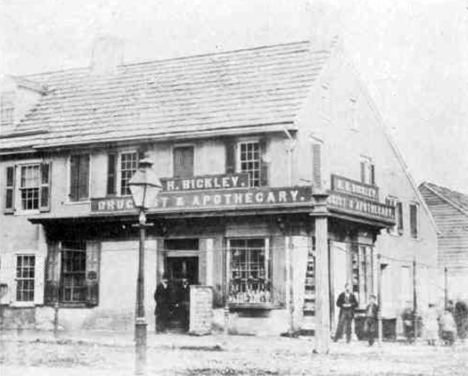 Bickley Druggist and Apothecary at 4th and Market Streets in Chester